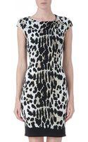 Roberto Cavalli Leopard Print Jersey Dress - Lyst