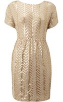 Tfnc All Over Sequin Dress with Elastic Ruched Waist - Lyst