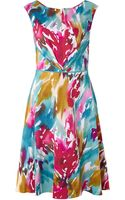 Adrianna Papell Floral Printed Fit and Flare Dress - Lyst