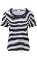 Cc Indigowhite Striped Jersey Top - Lyst