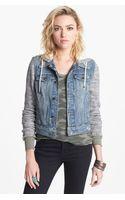 Free People Denim Knit Jacket - Lyst