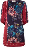 Linea Scarf Print Woven Tunic - Lyst