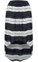Michael by Michael Kors Pleated Striped Hi Low Skirt - Lyst