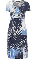Weekend By Maxmara Tema Short Sleeve Spot Print Dress - Lyst