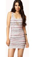 Forever 21 Ombré Tribal Print Dress - Lyst