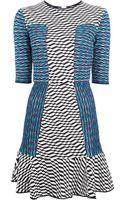 M Missoni Flared Mixed Print Dress - Lyst