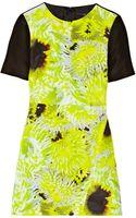Tibi Athena Printed Silk Linen and Cotton-blend Mini Dress - Lyst