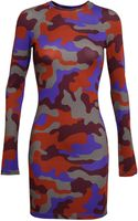 Christopher Kane Camouflage Printed Jersey Dress - Lyst