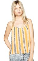 BCBGeneration Striped Pleated Tank Top - Lyst