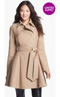 Ted Baker Wool Blend Wrap Coat - Lyst