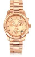 Michael Kors Runway Rose Gold Plated Stainless Steel Bracelet Womens Watch - Lyst