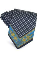 Versace Polkadot and Greca Woven Silk Skinny Tie - Lyst