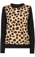 Jaeger Leopard Print Sweater - Lyst