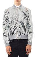 Richard Nicoll Metallic Lightweight Bomber Jacket - Lyst