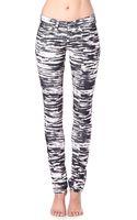 Etoile Isabel Marant Zebraprint Skinny Midrise Corduroy Jeans - Lyst