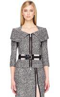 Michael Kors Zipfront Tweed Jacket - Lyst