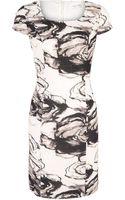 Minuet Petite Modern Floral Textured Dress - Lyst