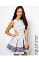 Asos Exclusive Skater Dress in Broderie Anglaise - Lyst