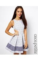 Asos Asos Petite Exclusive Skater Dress in Broderie Anglaise - Lyst