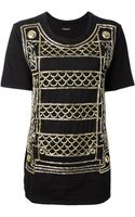 Balmain Sequin Embellished Tshirt - Lyst