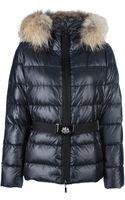 Moncler Fur Trim Padded Jacket - Lyst