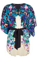 Roberto Cavalli Floral Print Oversize Blouse - Lyst