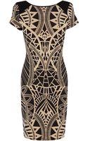 Oasis Tribal Print Bodycon Dress - Lyst