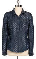 Guess Natalie Chambray Polka Dot Shirt - Lyst