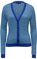 Jonathan Saunders Knit Vneck Cardigan in Turquoise Cobalt - Lyst