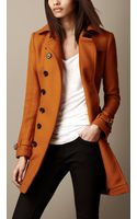 Burberry Mid Length Wool Blend Trench Coat - Lyst