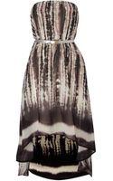 Glamorous Hi Low Chiffon Strapless Dress - Lyst