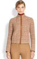 Akris Leathertrimmed Bouclé Jacket - Lyst