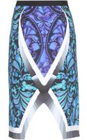 Peter Pilotto Spiral Digital Print Skirt - Lyst