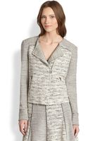 Sachin & Babi Veronica Mixedpattern Knit Tweed Biker Jacket - Lyst