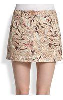 See By Chloé Printed Mini Denim Skirt - Lyst