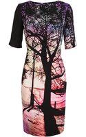 Mary Katrantzou Tree Printed Silk Dress - Lyst