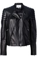 3.1 Phillip Lim Cross Front Biker Jacket - Lyst