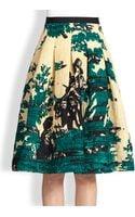 Oscar de la Renta Toile Print Skirt - Lyst