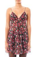 Saint Laurent Floral Libertyprint Babydoll Dress - Lyst