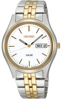 Seiko Mens Solar Two Tone Stainless Steel Bracelet 37mm Sne032 - Lyst
