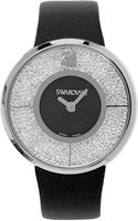 Swarovski Womens Swiss Crystalline Black Calfskin Leather Strap 40mm - Lyst