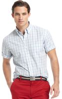Izod Shortsleeve Plaid Buttondown - Lyst