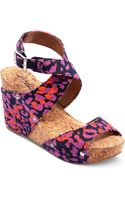 Lucky Brand Moran Platform Wedge Sandals - Lyst