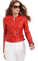 Michael Kors Leather Moto - Lyst