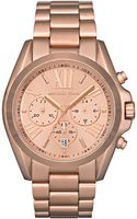 Michael Kors Womens Chronograph Bradshaw Rose Goldtone Stainless Steel Bracelet 43mm - Lyst