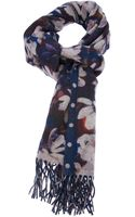 Paul Smith Floral Polka Dot Scarf - Lyst