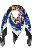 Topshop Butterfly Square Scarf - Lyst