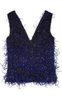 Christopher Kane Fire Cracker Bead Embellished Silk Top - Lyst