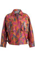 Christopher Kane Camouflage Woolsilk Parka Jacket - Lyst