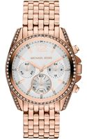 Michael Kors Womens Chronograph Pressley Rose Goldtone Stainless Steel Bracelet 39mm - Lyst